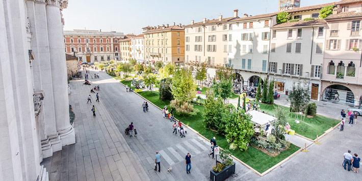 landscaping piazza duomo brescia