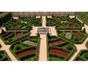giardino castello grosso con fioriture stagionali