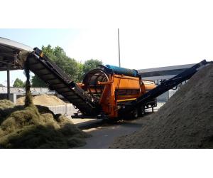 separazione delle fibre artificiali dalla sabbia